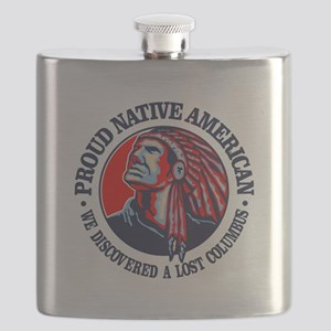 Proud Native American (Columbus) Flask