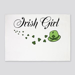 Irish Girl | St Patricks Day 5'x7'Area Rug