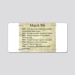 March 9th Aluminum License Plate