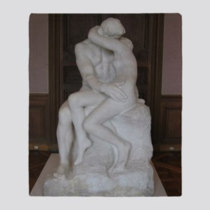 Rodin's The Kiss Throw Blanket