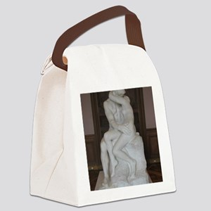 Rodin's The Kiss Canvas Lunch Bag