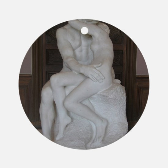 Rodin's The Kiss Round Ornament