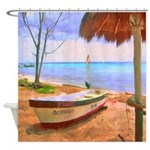 Cozumel Fishing Boats Caribbean Shower Curtain