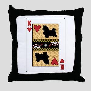 King Havanese Throw Pillow