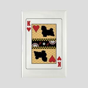 King Havanese Rectangle Magnet