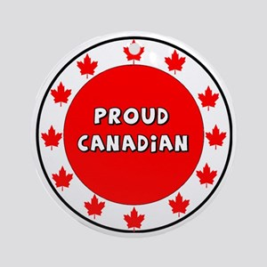 Proud Canadian Round Ornament