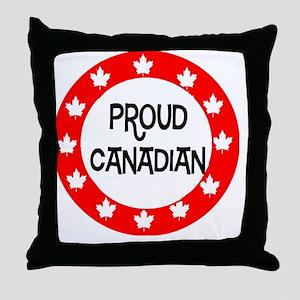 Proud Canadian Throw Pillow