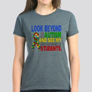Look Beyond 2 Autism Students Women's Dark T-Shirt