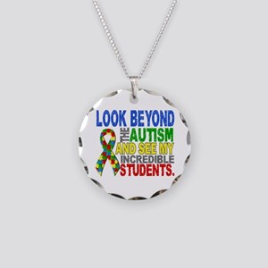 Look Beyond 2 Autism Student Necklace Circle Charm