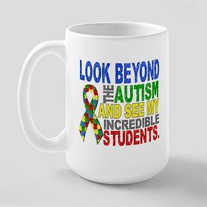 Look Beyond 2 Autism Students Large Mug