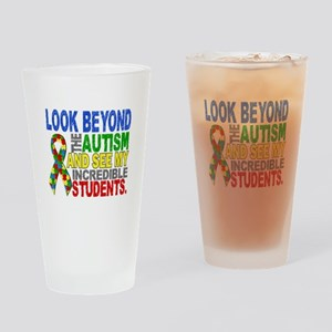 Look Beyond 2 Autism Students Drinking Glass