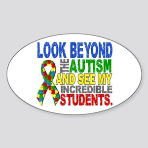 Look Beyond 2 Autism Students Sticker (Oval)