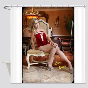 Bella Gold Signature Shower Curtain