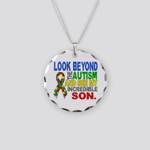 Look Beyond 2 Autism Son Necklace Circle Charm