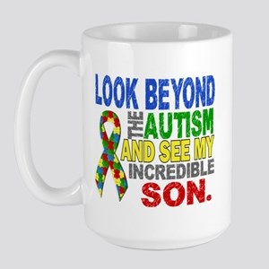 Look Beyond 2 Autism Son Large Mug