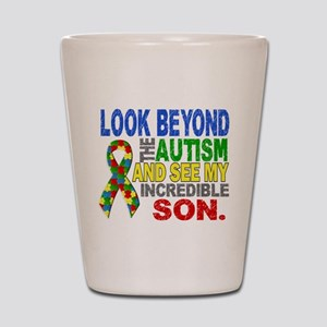 Look Beyond 2 Autism Son Shot Glass