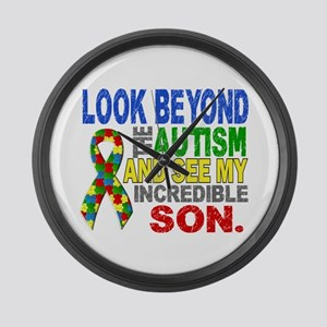 Look Beyond 2 Autism Son Large Wall Clock