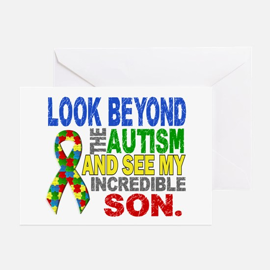 Look Beyond 2 Autism Son Greeting Cards (Pk of 10)