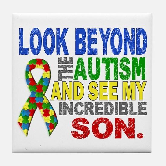 Look Beyond 2 Autism Son Tile Coaster