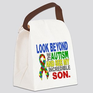 Look Beyond 2 Autism Son Canvas Lunch Bag