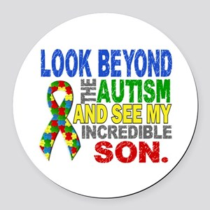 Look Beyond 2 Autism Son Round Car Magnet