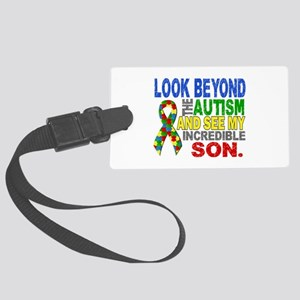 Look Beyond 2 Autism Son Large Luggage Tag