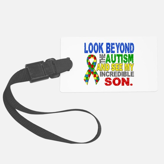 Look Beyond 2 Autism Son Luggage Tag