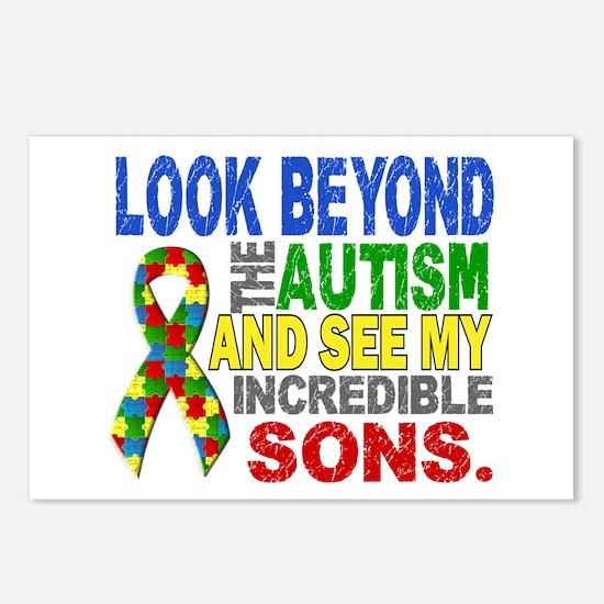 Look Beyond 2 Autism Sons Postcards (Package of 8)