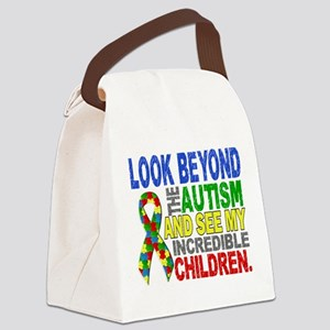 Look Beyond 2 Autism Children Canvas Lunch Bag