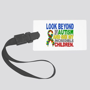 Look Beyond 2 Autism Children Large Luggage Tag