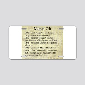 March 7th Aluminum License Plate