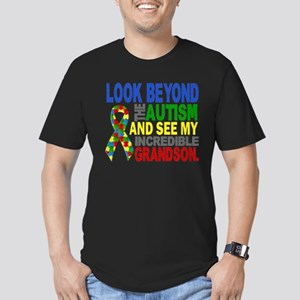 Look Beyond 2 Autism G Men's Fitted T-Shirt (dark)