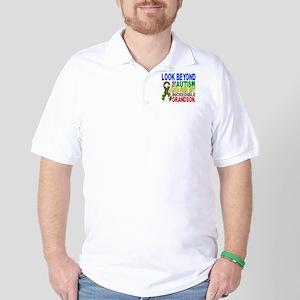 Look Beyond 2 Autism Grandson Golf Shirt