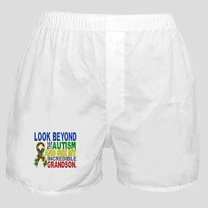 Look Beyond 2 Autism Grandson Boxer Shorts
