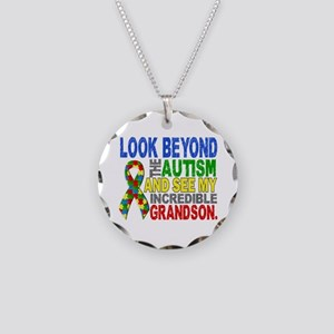 Look Beyond 2 Autism Grandso Necklace Circle Charm