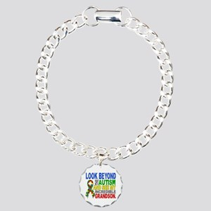 Look Beyond 2 Autism Gra Charm Bracelet, One Charm