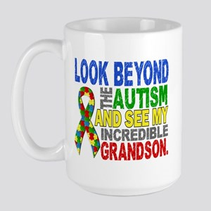 Look Beyond 2 Autism Grandson Large Mug