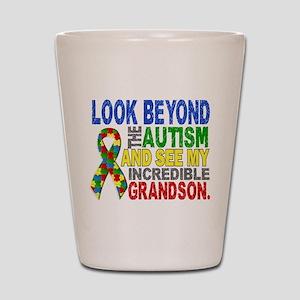 Look Beyond 2 Autism Grandson Shot Glass