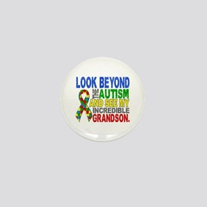 Look Beyond 2 Autism Grandson Mini Button