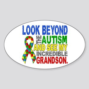 Look Beyond 2 Autism Grandson Sticker (Oval)