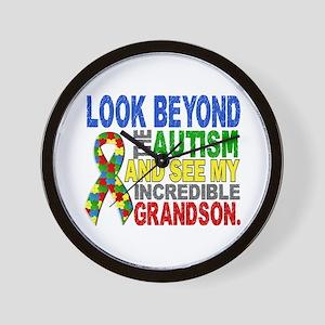 Look Beyond 2 Autism Grandson Wall Clock