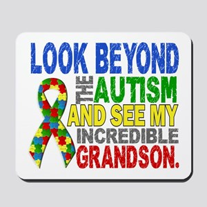 Look Beyond 2 Autism Grandson Mousepad
