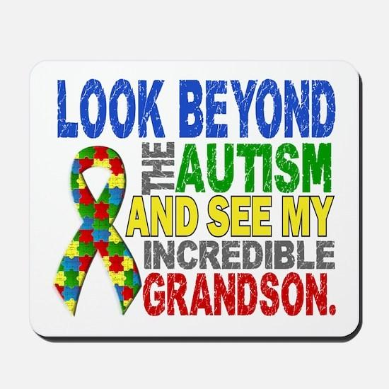 Look Beyond 2 Autism Grandson Mousepad