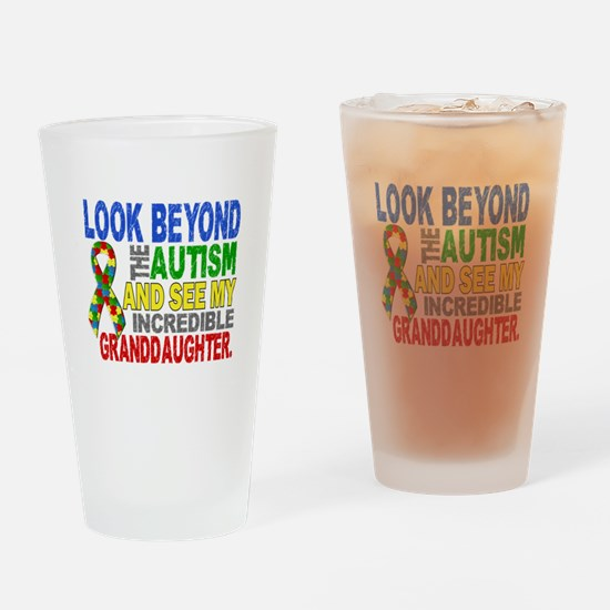Look Beyond Autism 2 Granddaughter Drinking Glass
