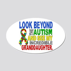 Look Beyond Autism 2 Grandda 20x12 Oval Wall Decal