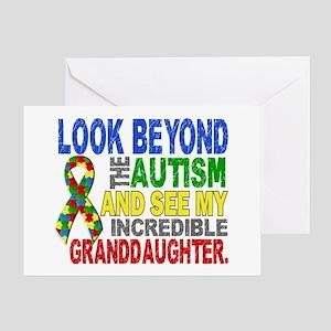 Look Beyond Autism 2 Granddaughter Greeting Card