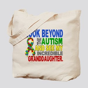 Look Beyond Autism 2 Granddaughter Tote Bag