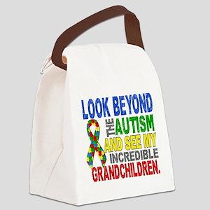 Look Beyond 2 Autism Grandchildre Canvas Lunch Bag