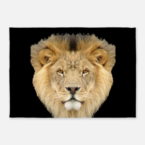 African Lion 5'x7'area Rug