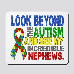 Look Beyond 2 Autism Nephews Mousepad